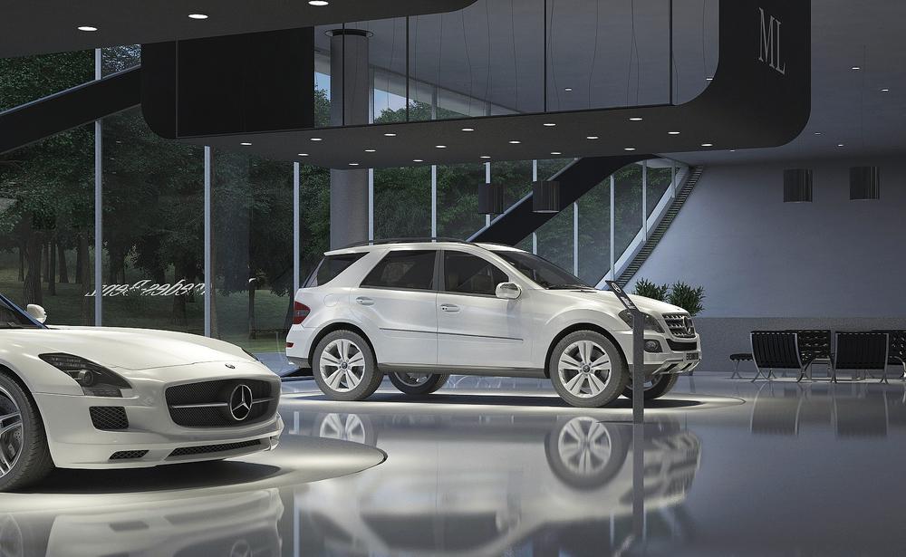 MercedesBenz Showroom Design AMasow - Car showroom