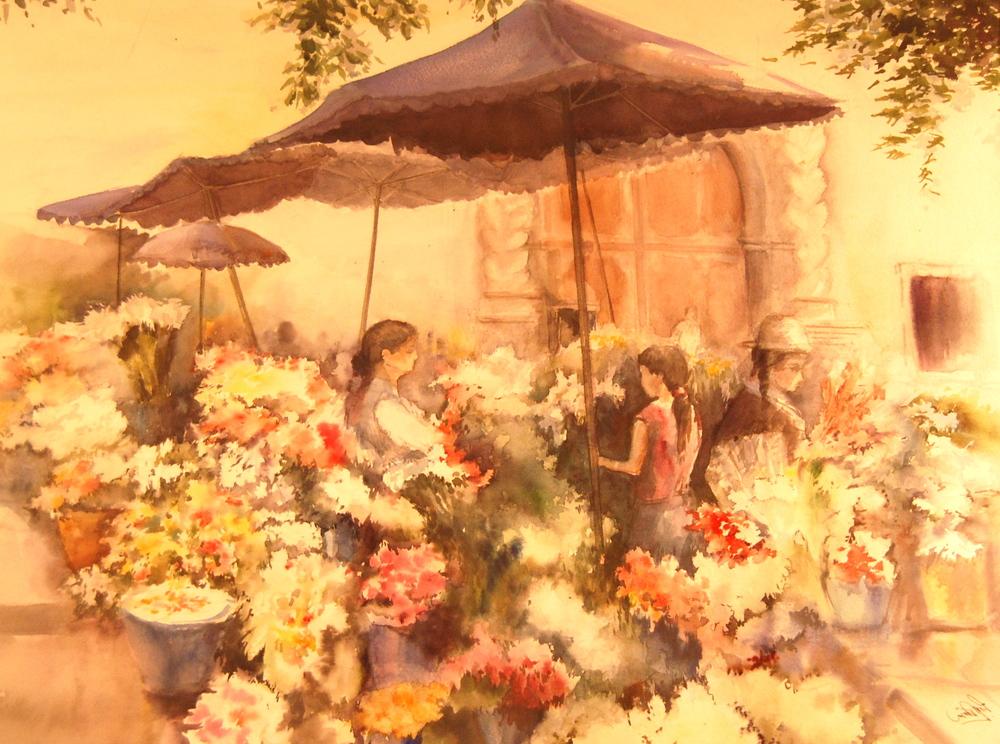 Ecuador-Flower Market