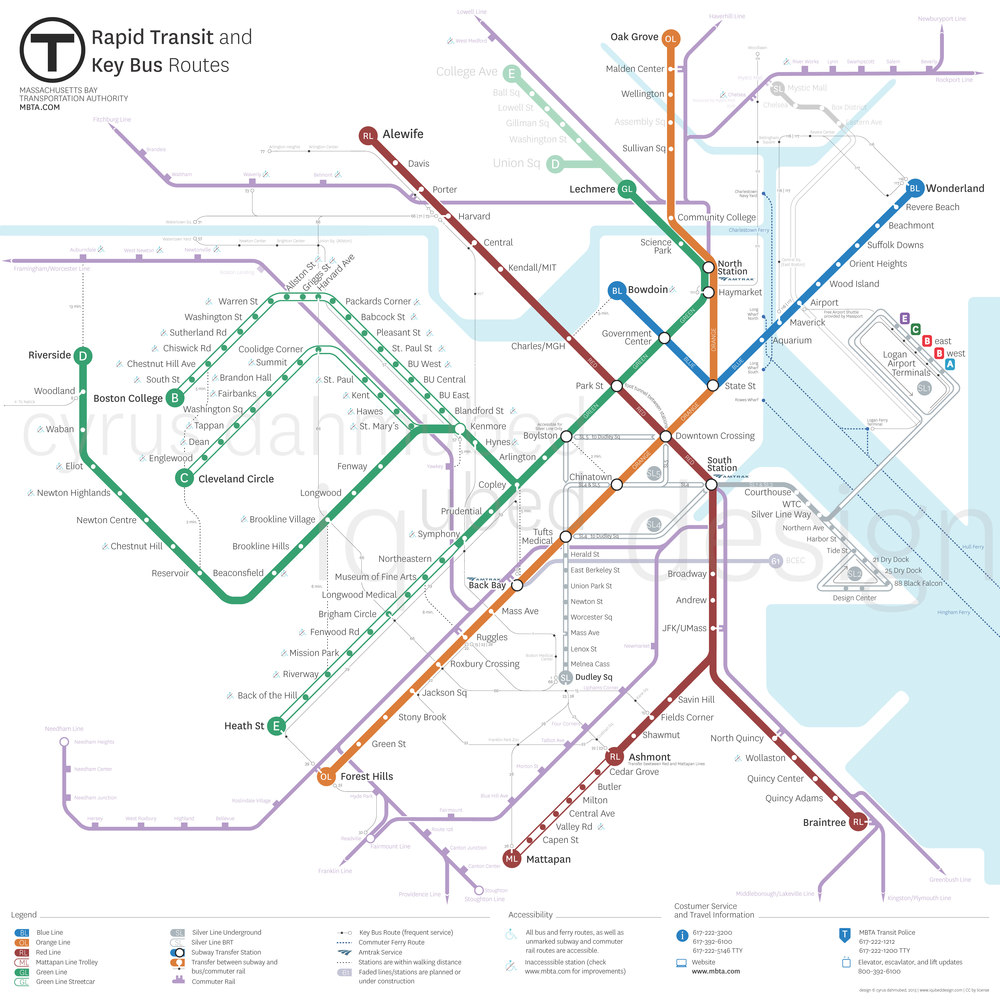 My version of a new MBTA map.