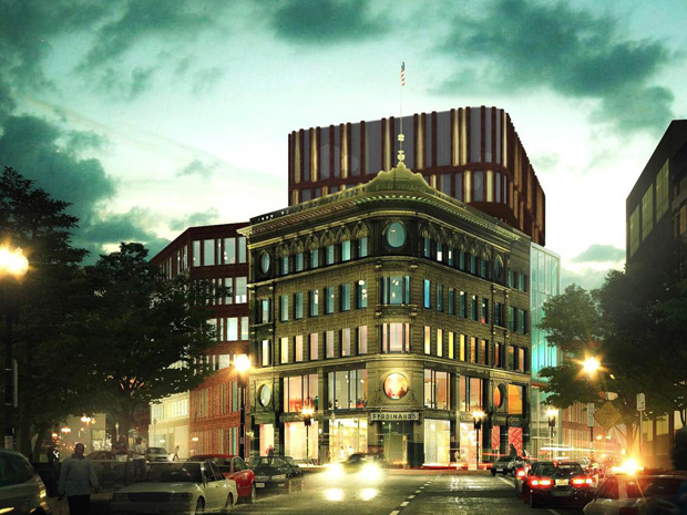 A rendering of what the Ferdinand Building will look like once its transformation into the Dudley Square Municipal Building is complete.