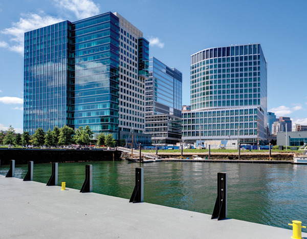 Architectural homogeneity in the form of hermetically-sealed stone and glass boxes runs rampant in Boston's Innovation and Seaport Districts.