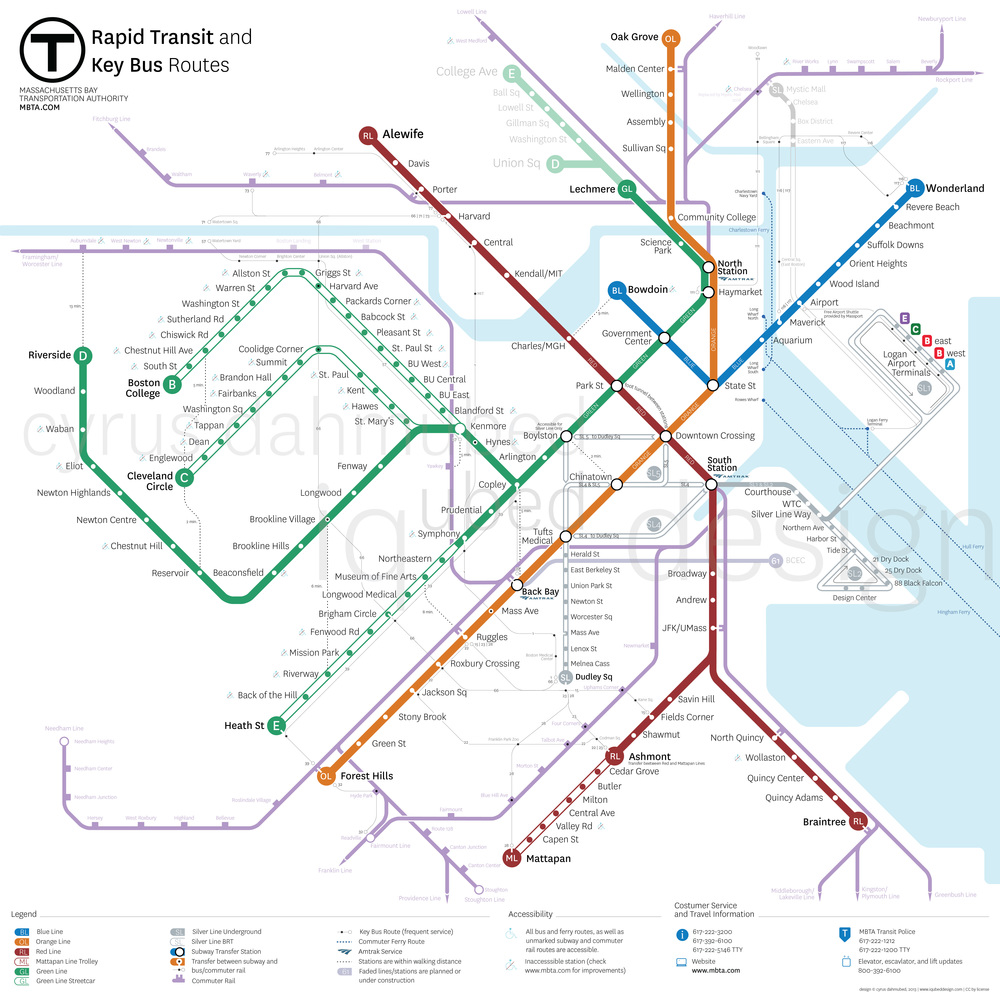 MBTA Map  Proposal  Cyrus Dahmubed  Iqubed Design