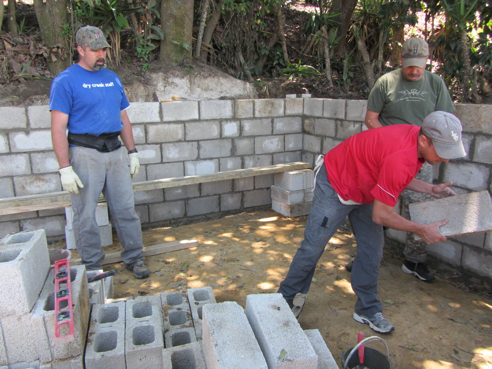 Building a house for a widow in Guatemala.