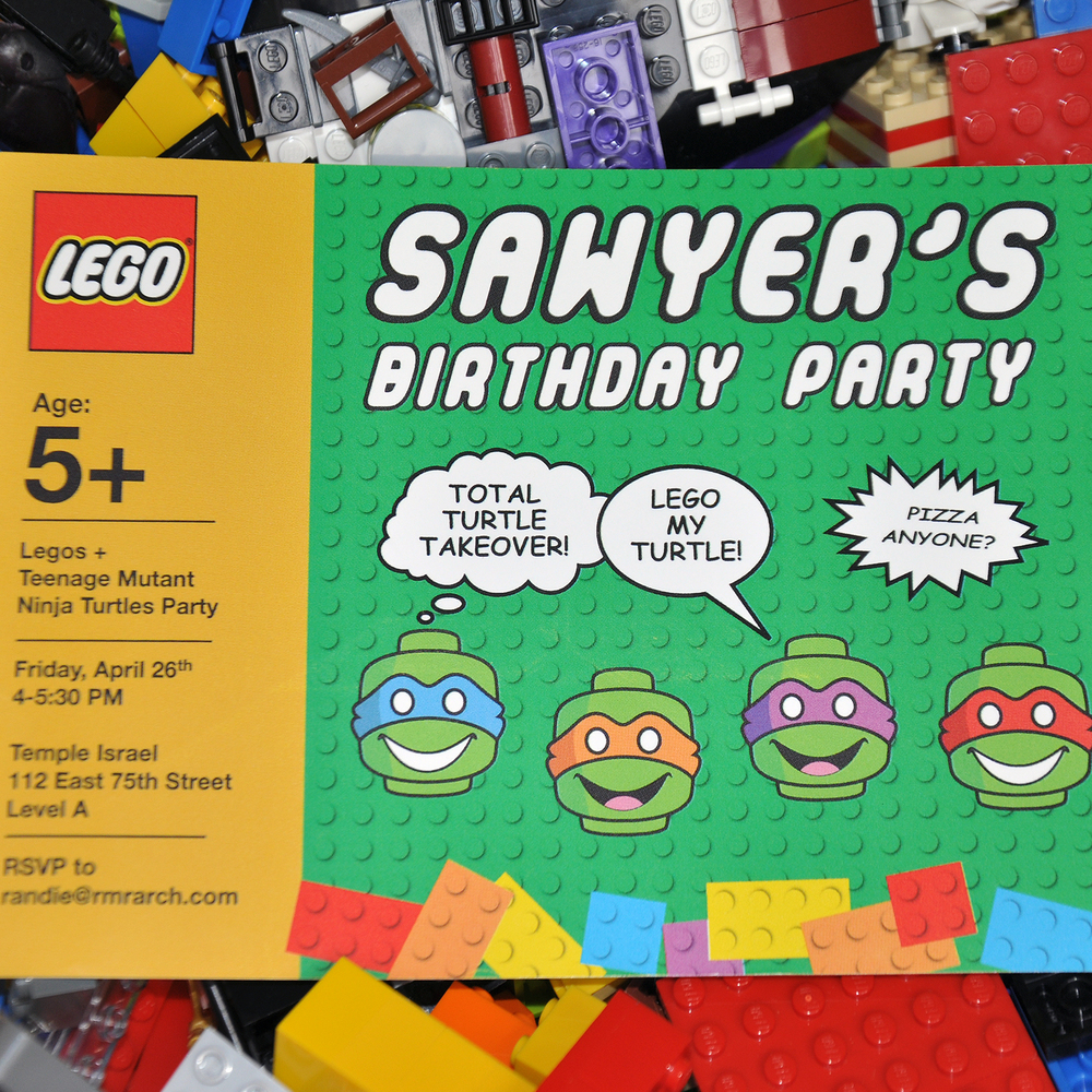 Lego Teenage Mutant Ninja Turtles Party Michele Zipper Design – Teenage Mutant Ninja Turtles Birthday Invites