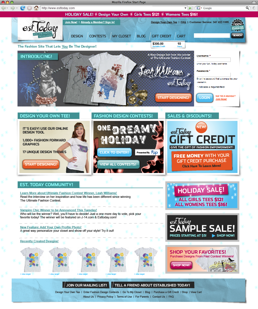 Homepage Update, October 2009