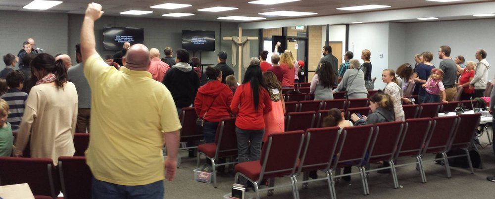 Redeeming Life Church's new building has room for about 100 people!