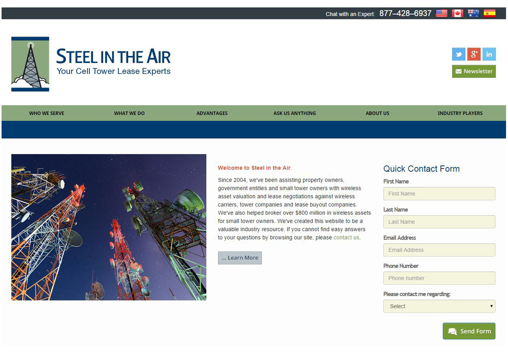 Steel in the Air, Inc. - Cell Tower Lease Experts