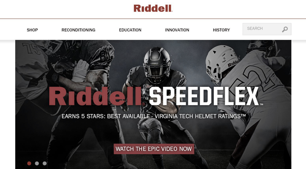 Riddell - Premium Football Equipment + Collectibles | New Example Technical SEO Client