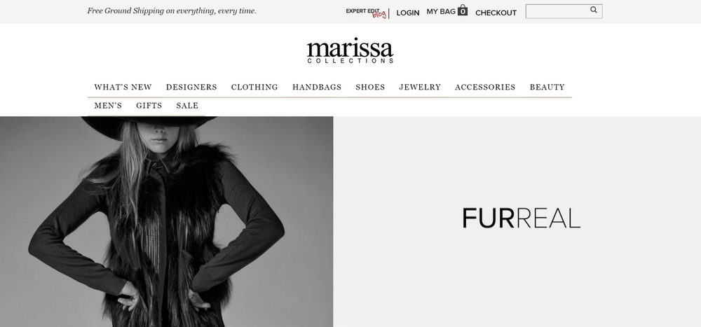 Marissa Collections - Luxurious, Curated Fashion + Accessories | New Example Technical SEO Client