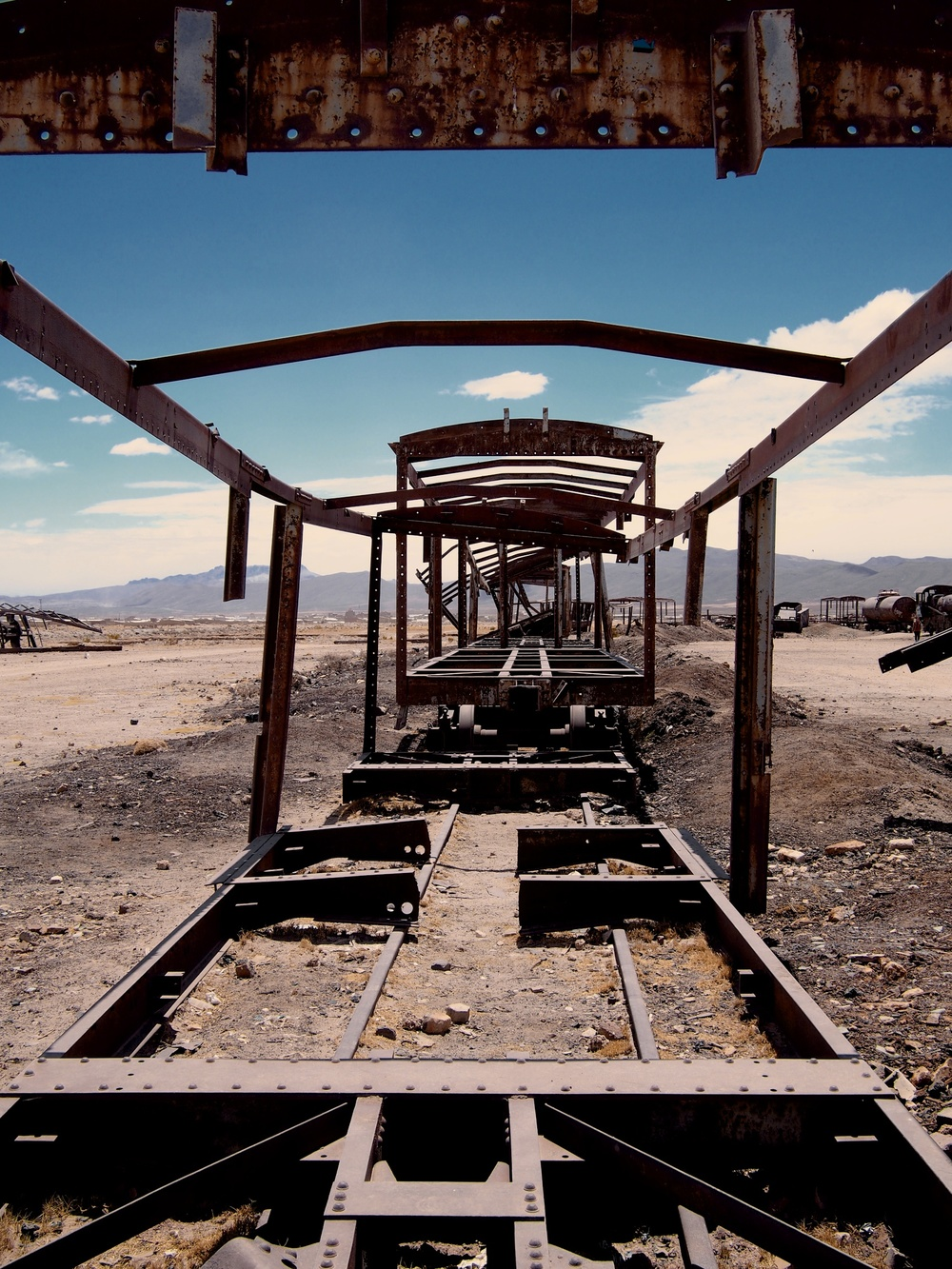 Cementerio de trenes (train cemetery) 3 km outside of Uyuni where a collection of abandoned 19th century trains still live