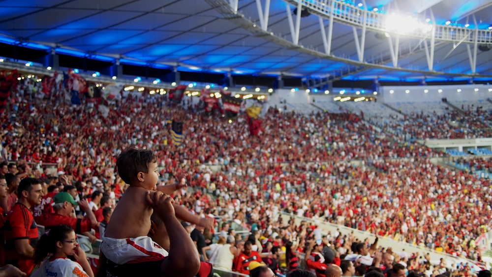 Sea of Flamengo supporters