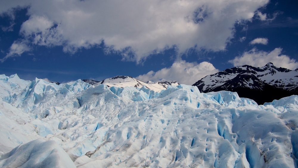 The face of the glacier changes every day due to melting, erosion, and human influence