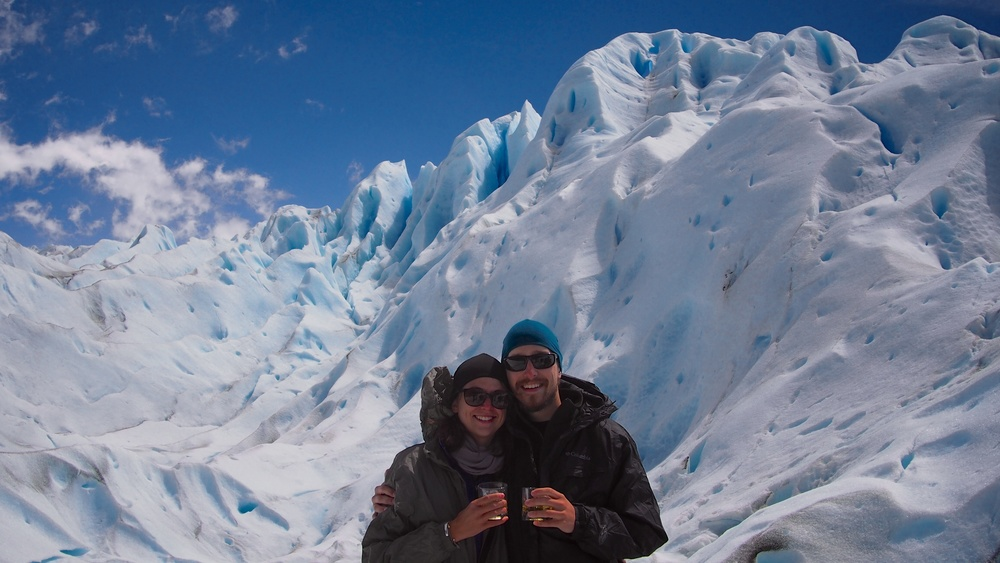 The staff are well-practiced at taking photos of you and the surrounding glacier