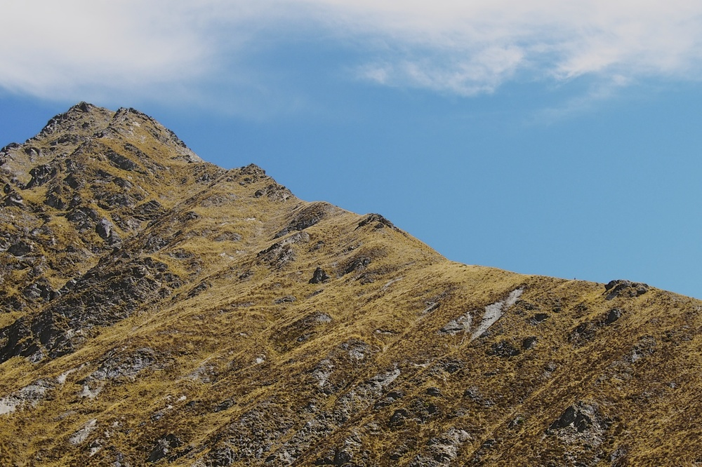 This is the view from the saddle looking towards the peak of Ben Lomond. It's a steep climb to the top.