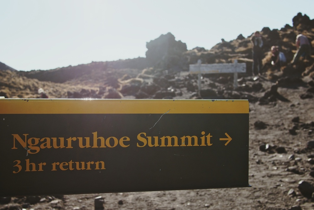 "A side trek up Ngauruhoe Summit also known as ""Mount Doom"" from The Lord of the Rings movies was in our cards that day thanks to wonderful weather"