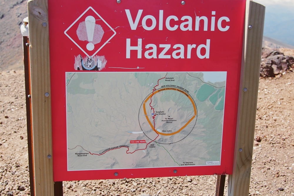 Just in case you forgot you were walking around active volcanoes.