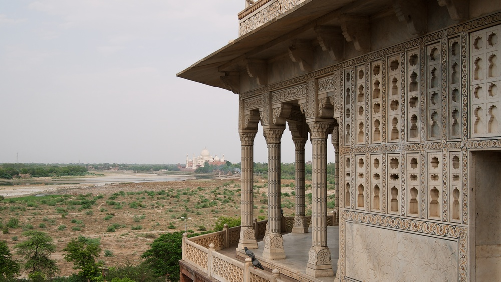 View of the Taj from the fort