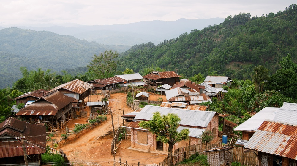 One of the many villages dotting the hills