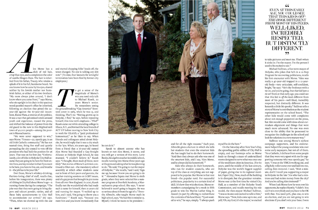 Mayor Alex Morse photographed with his parents at his childhood home in Holyoke, MA.