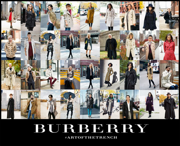 how to find great look stylish design BURBERRY ART OF THE TRENCH — News — Tim Klein Photography