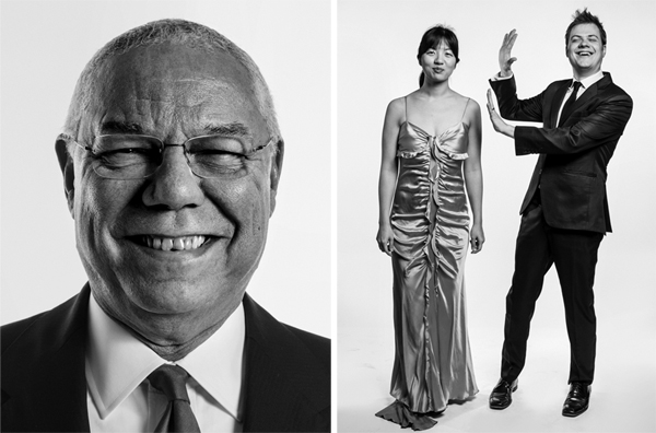 General Colin Powell, Former Chairman of the Joint Chiefs of Staff and U.S. Secretary of State, and Elizabeth Joy Roe and Greg Anderson, of Anderson & Roe Piano Duo
