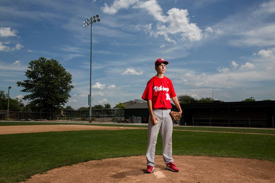 Lamb is a high school pitcher who throws right and sees left. Nearly 365 days ago, his right eye went up in flames -- literally -- and he's spent the past year trying to reteach himself how to play baseball.