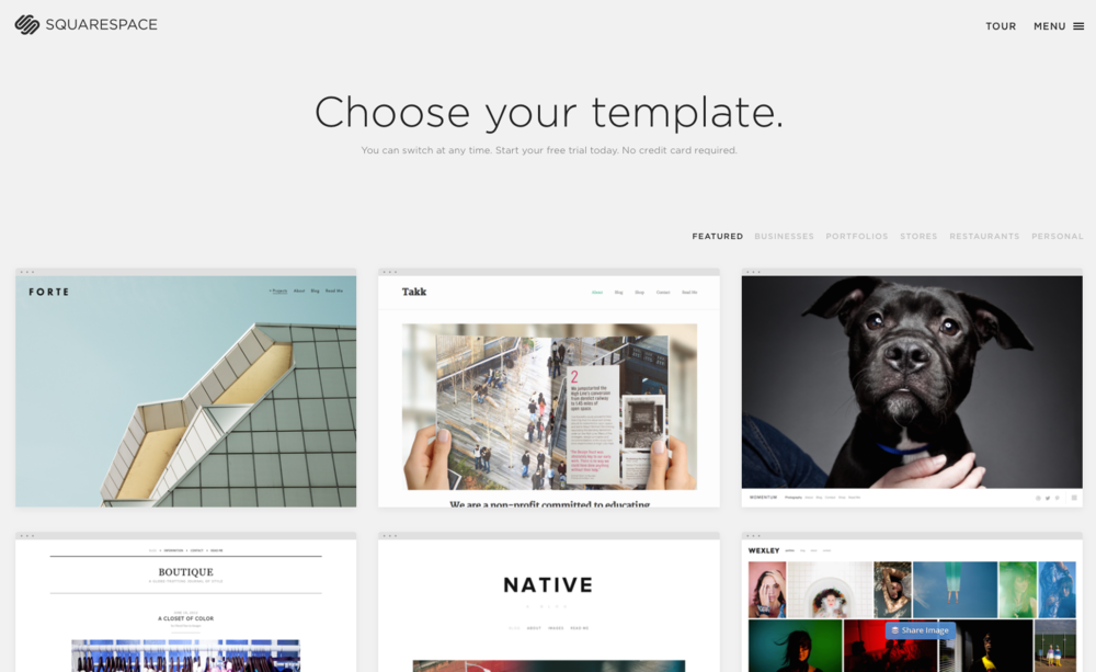 Squarespace offers 26 beautifully-designed templates and tools to customize the look and feel of your website