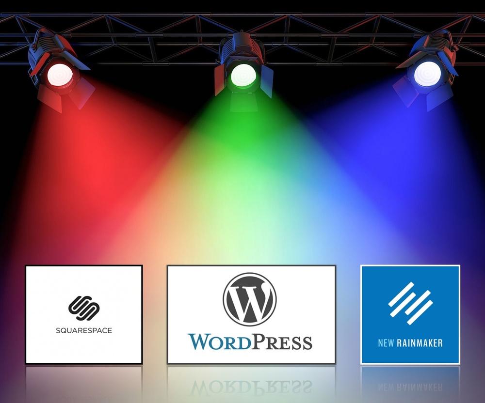 Squarespace vs. WordPress vs. Rainmaker