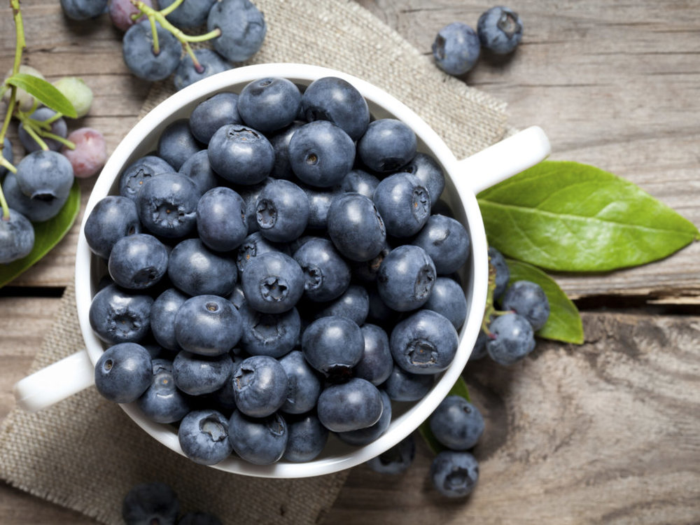 Blueberries provide boatloads of antioxidants and vitamins essential for reducing anxiety.