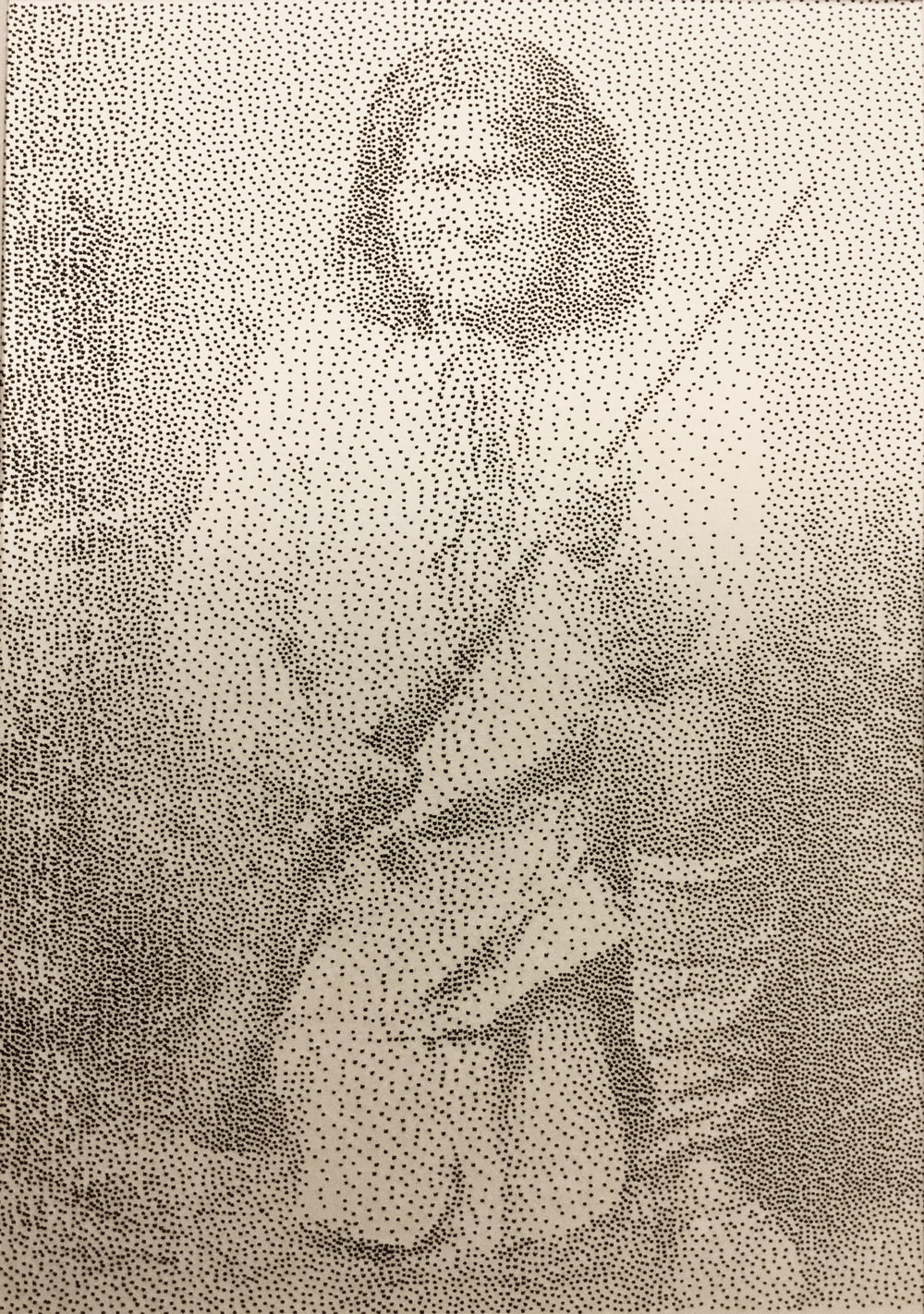 """""""Geronimo"""" India ink stippling on fine art paper."""