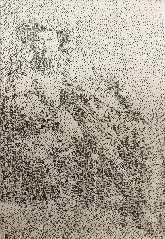 """Buffalo Bill"" India ink stippling on fine art paper."