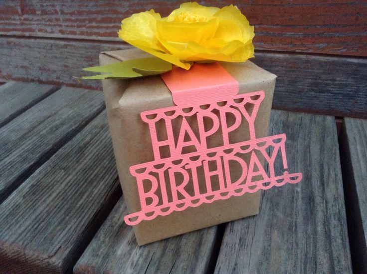 3D Birthday gift topper | maritza garcia