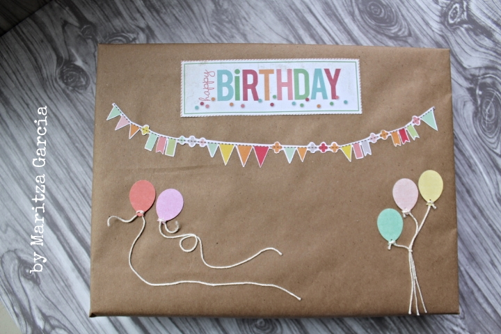 DIY Oversized Birthday Banners & Balloons Gift Wrapping | maritza garcia