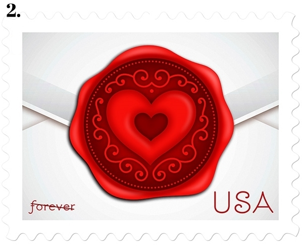 sealed with love postal stamps