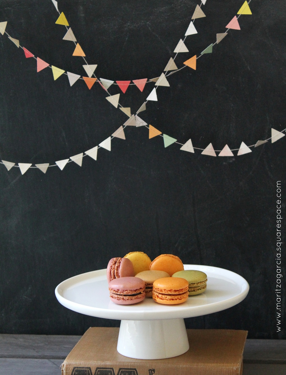 Birthday Macaroons, Chalkboard and Banner | by Maritza Garcia