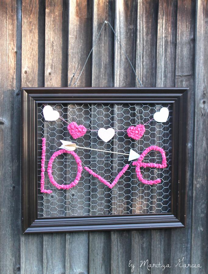 DIY Valentines Banner Art Frame