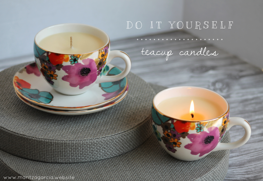 DIY Teacup Candles | Maritza Garcia