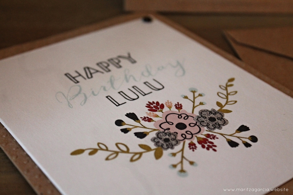 Personalized Floral Birthday Card by Maritza Garcia.
