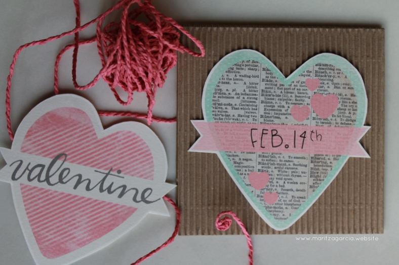 Simple and Sweet Valentine's Day Cards via Maritza Garcia.