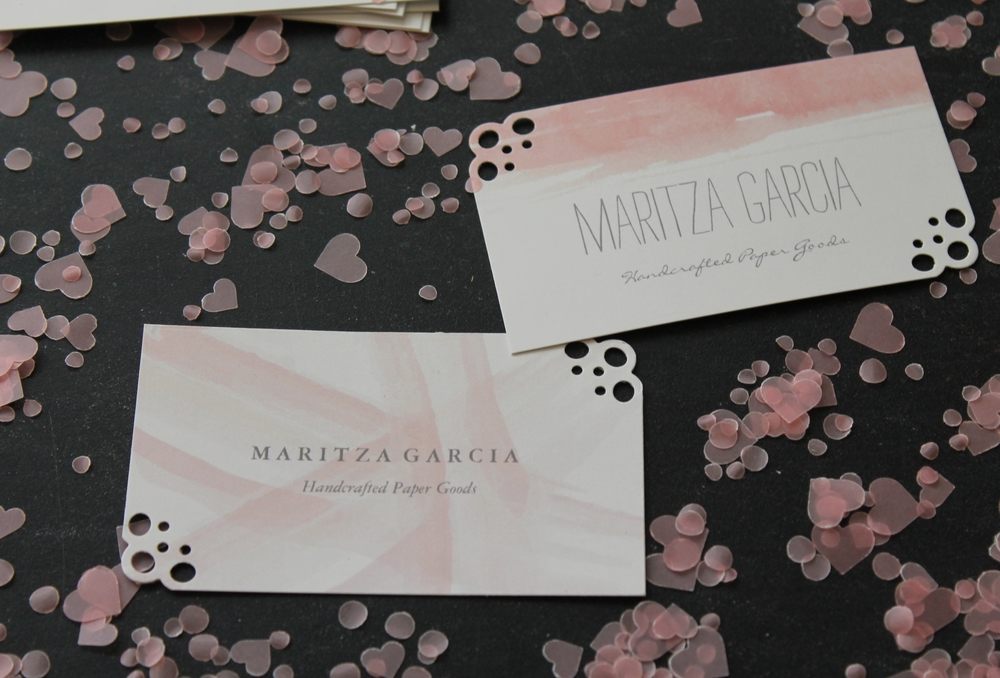 Revamped DIY Business Cards by Maritza Garcia.