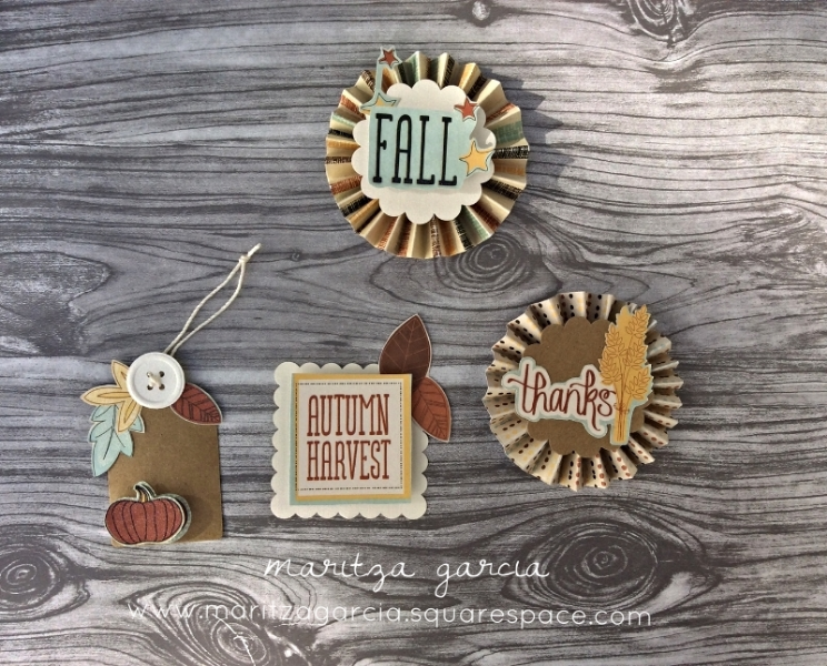 Autumn Harvest Gift Tags and Toppers | by maritza garcia