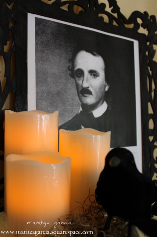 Edgar Allan Poe Halloween display | maritza garcia