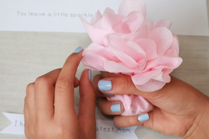 Mother's Day Paper Flower Bouquet DIY Surprise with step by step photo tutorial.
