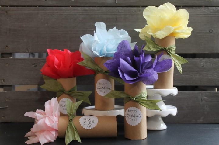 Mother\'s Day Paper Flower Bouquet DIY Surprise — Maritza Garcia
