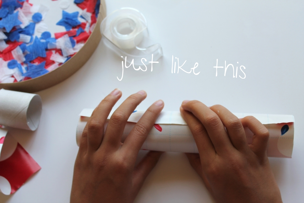 4th of July DIY Confetti Poppers | by Maritza Garcia.