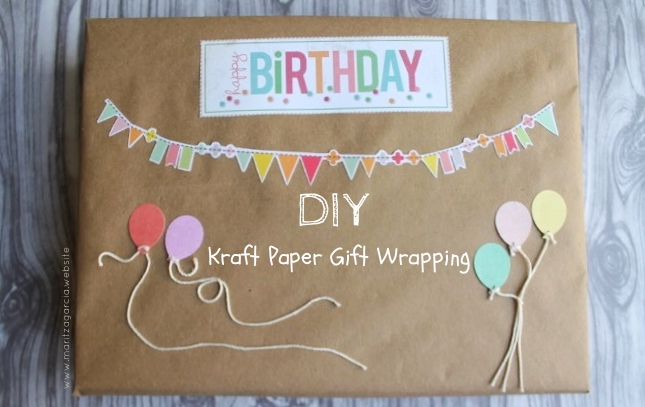DIY Banners and Balloons Gift Wrapping | www.maritzagarcia.website