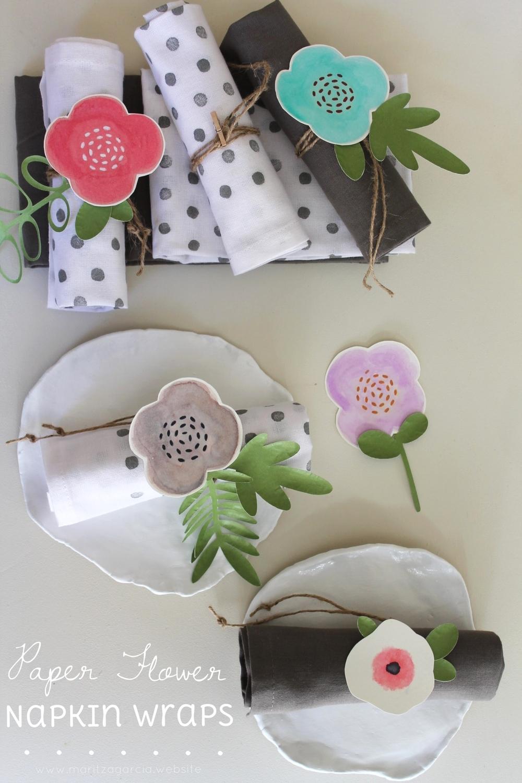 Paper Flower Napkin Wraps | www.maritzagarcia.website