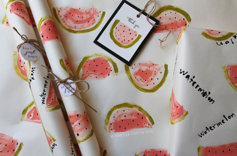 Hand Painted Gift Wrap | www.maritzagarcia.website