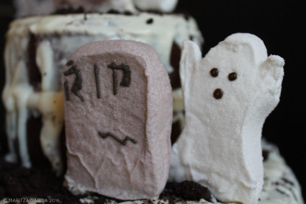 Homemade Graveyard Cake by Maritza Garcia.