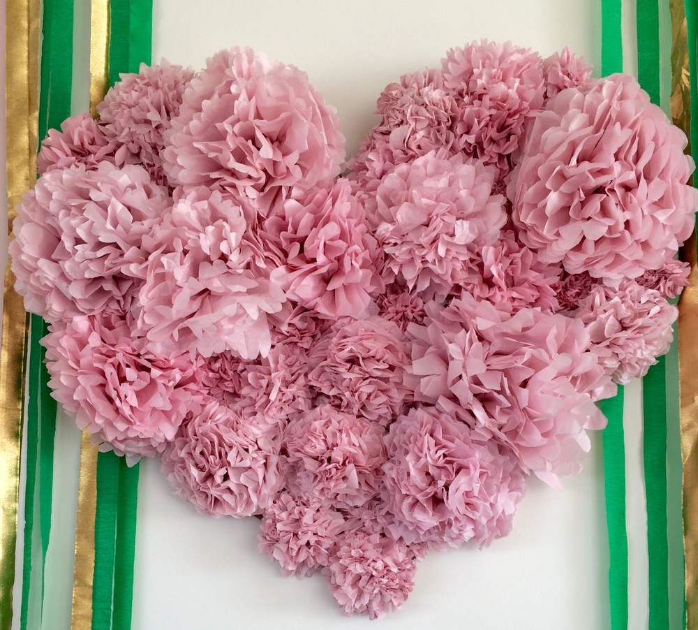 Pink Tissue Paper Heart/Backdrop | www.maritzagarcia.website